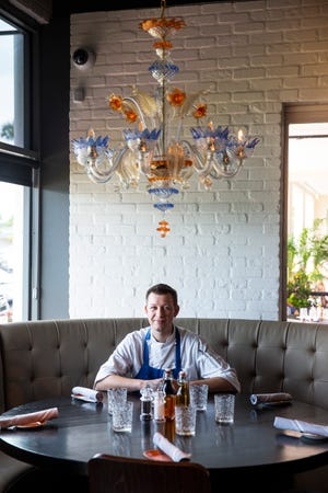 Jason Goddard, the corporate chef at Dorona, Barbatella and Sea Salt, poses for a portrait inside Dorona on Wednesday, August 1, 2018.