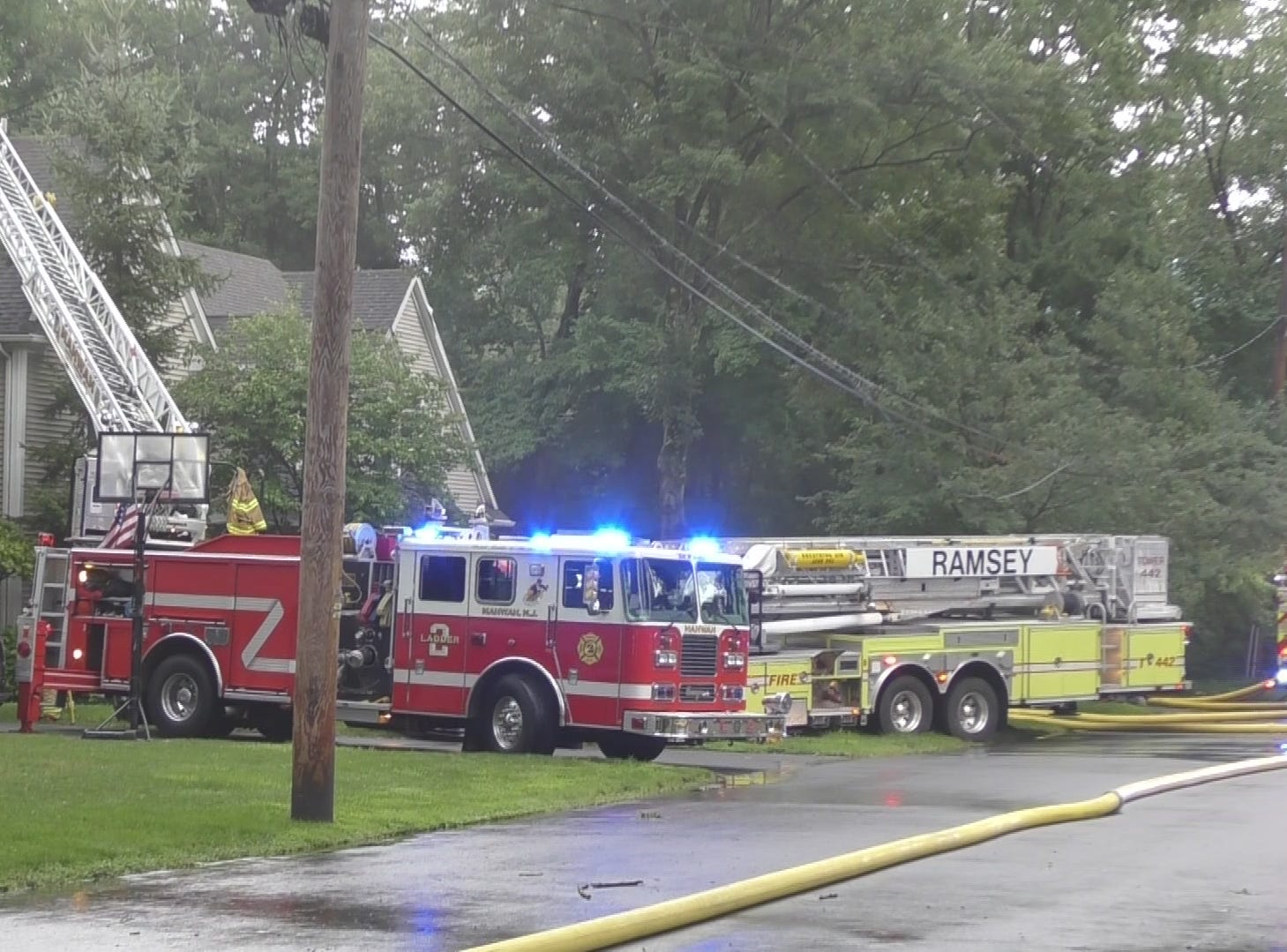 A house was struck by lightning in Ramsey Aug. 3, 2018.