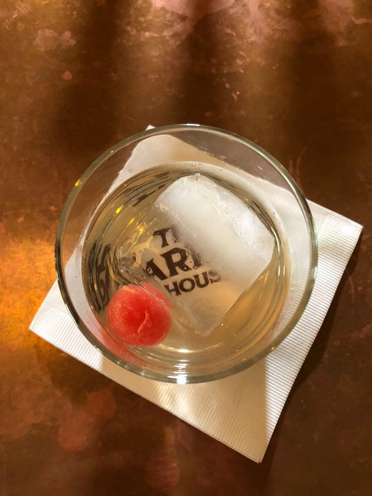 The Watermelon Milk Punch at The Barrow House was well-balanced and smooth.