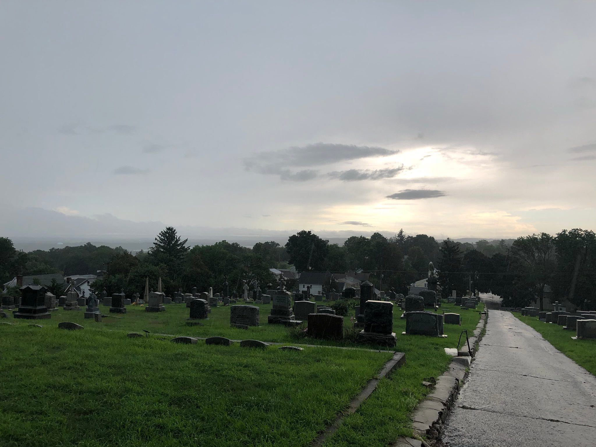 Storm clouds over Boonton Aug. 3, 2018.