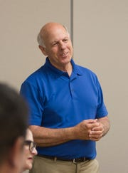 New Mexico Governor candidate, Steve Pearce meets with local republicans to discuss energy polices, Thursday, Aug. 2, 2018 at San Juan College School of Energy in Farmington.