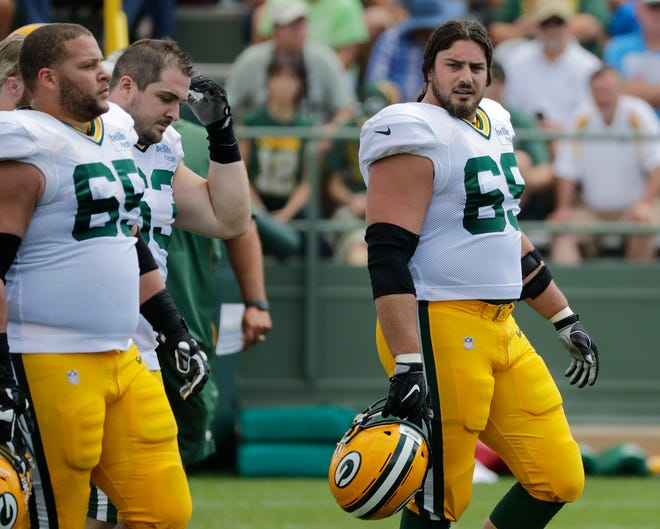 Green Bay Packers offensive tackle David Bakhtiari (69) during training camp practice at Ray Nitschke Field on Friday, August 3, 2018 in Ashwaubenon, Wis. Adam Wesley/USA TODAY NETWORK-Wisconsin