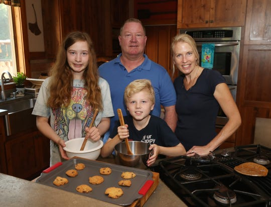 The Fenwicks, from left, Rachel, Dave, Luke and Sharon at their home in Staatsburg on August 1, 2018.  The Fenwicks have been entering various competitions at the Dutchess County Fair for several years.