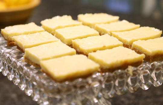 Key lime bars baked by Robb Fessler at his home in Rhinebeck on August 3, 2018. Fessler, an avid baker for over a decade competes in the Dutchess County Fair, and won a ribbon for this recipe.