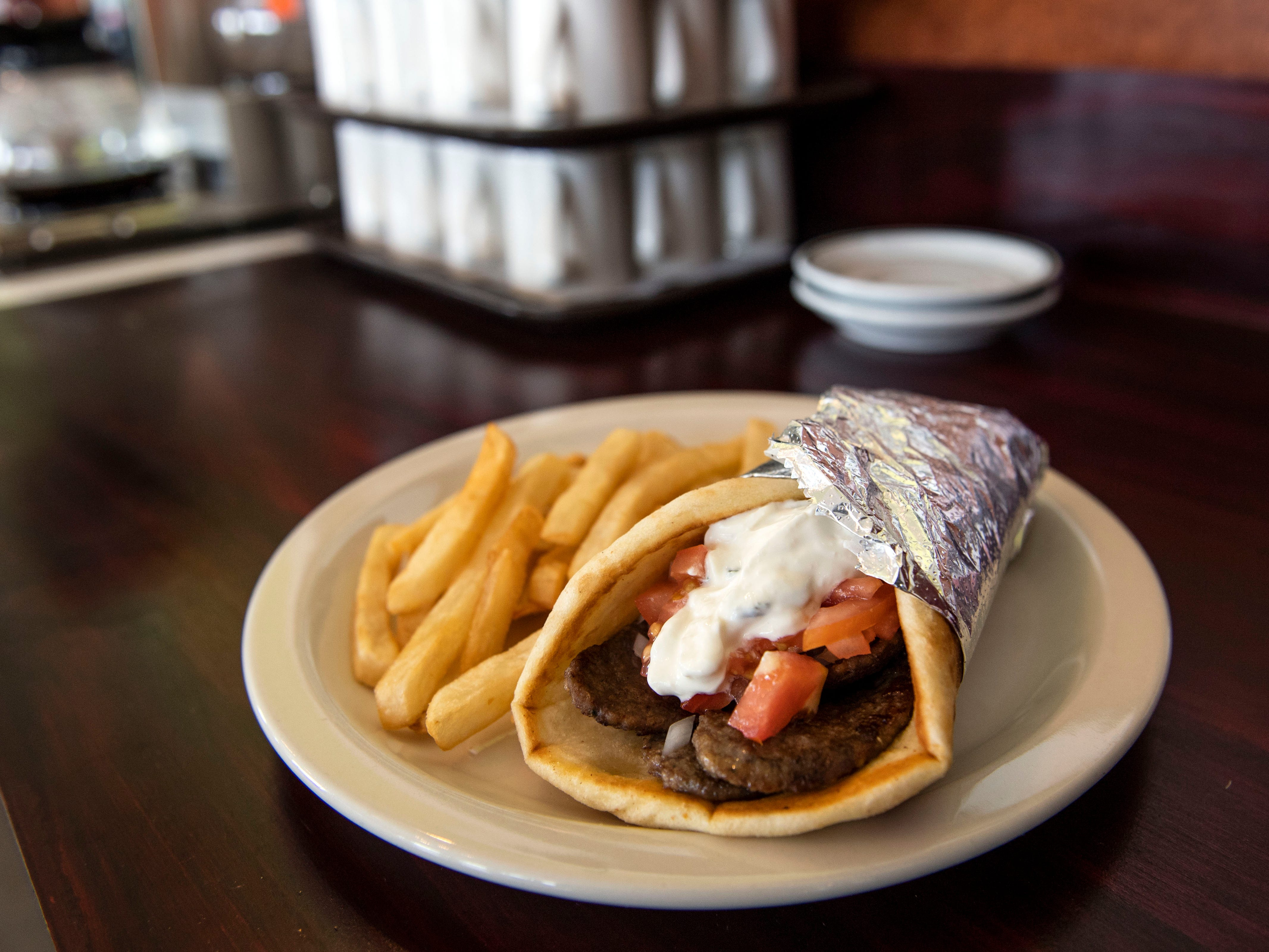Aurora's Bakery's gyro on Wednesday, August 1, 2018. Aurora's Bakery opened in July 2018, owned and operated by Mexican immigrants Anselmo Arrieta and his wife Guadelupe Rosete. The pair met in New York City, and moved to York in 2002 to 'chase the American Dream.'