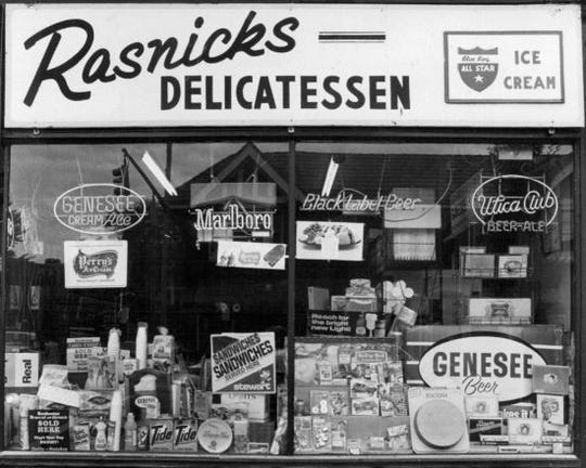 December 1978: Rasnick's on Park Avenue.