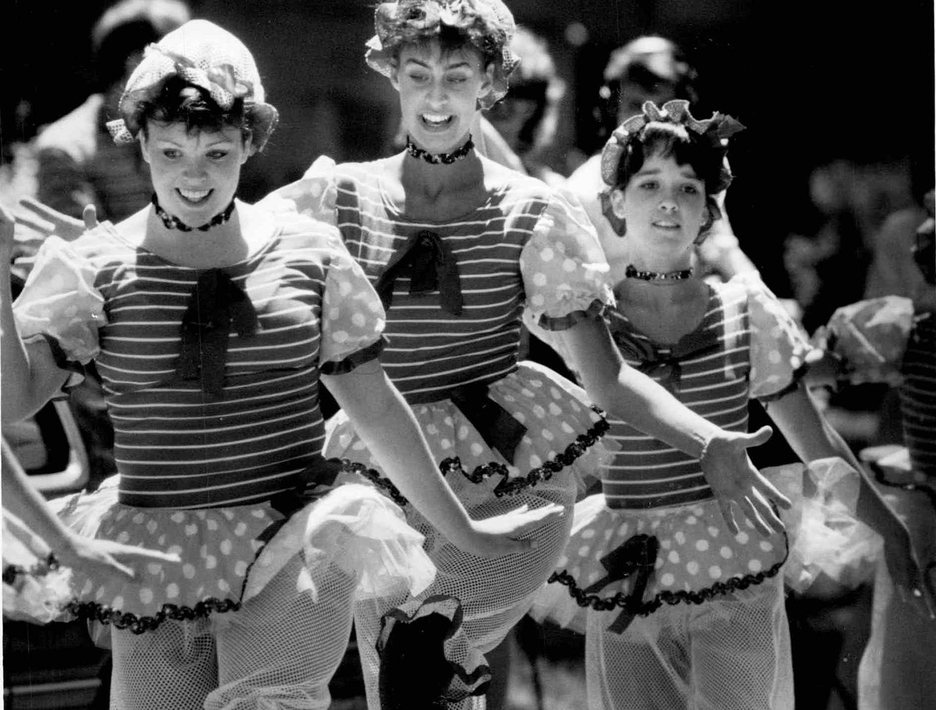 In this 1987 photo, members of the Dianne Lynn Dance Theatre perform during the 11th annual Park Avenue Festival.