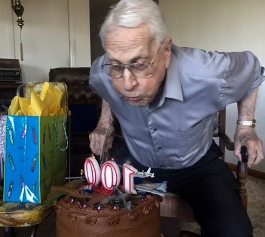 Stephen A. Stone Jr. celebrates his 100th birthday.