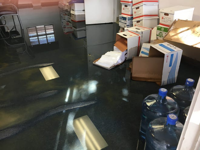 The boardroom of the Salvation Army was soaked after the flood on July 22.