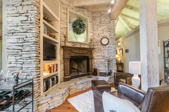 The hearth room offers a cozy spot to curl up during the winter months.