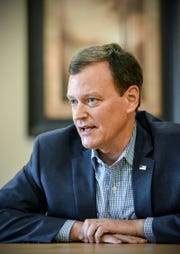 Jeff Johnson, Republican-endorsed candidate for governor,  made a campaign stop Thursday, Aug. 2, in St. Cloud.