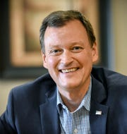 Republican gubernatorial candidate Jeff Johnson made a campaign stop Thursday, Aug. 2, in St. Cloud.