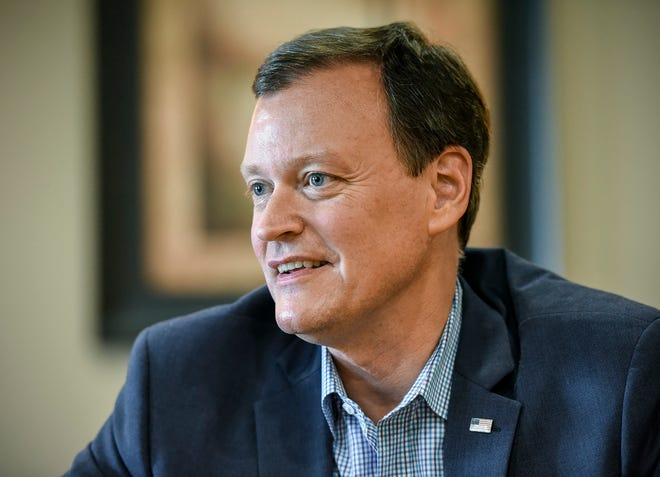 Republican candidate for governor Jeff Johnson made a campaign stop Thursday, Aug. 2, during a fundraiser put on by the 6th Congressional District Republican Party of Minnesota at The Tuscan Center in St. Cloud.
