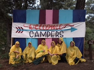 The annual Girls Camp of the LDS Mesquite Nevada Stake in July 2018 was soggy but fun, leaders said.