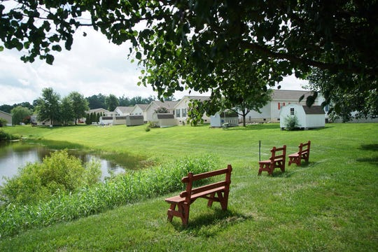 Bon Ayre residents' homes overlook a pond in the 55 and older community.