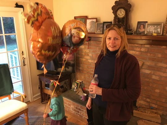 Author and former Washington D.C. staffer Mary C. Lewis is seen on Thanksgiving Day 2017, just months before she was diagnosed with cancer. She died on July 22.