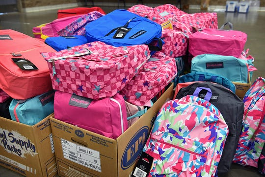 More than 6,800 backpacks full of free school supplies will be distributed through Project Back-To-School Roundup this year.