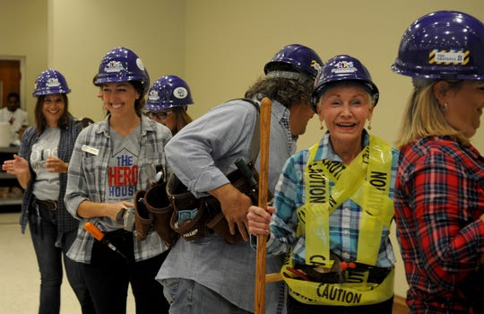 """A skit called """"The 2018 Grateful Eight"""" is performed at the start of the 10th Hands to Hands Community Fund Kick-off Thursday, Aug. 2, 2018, at The Forum."""