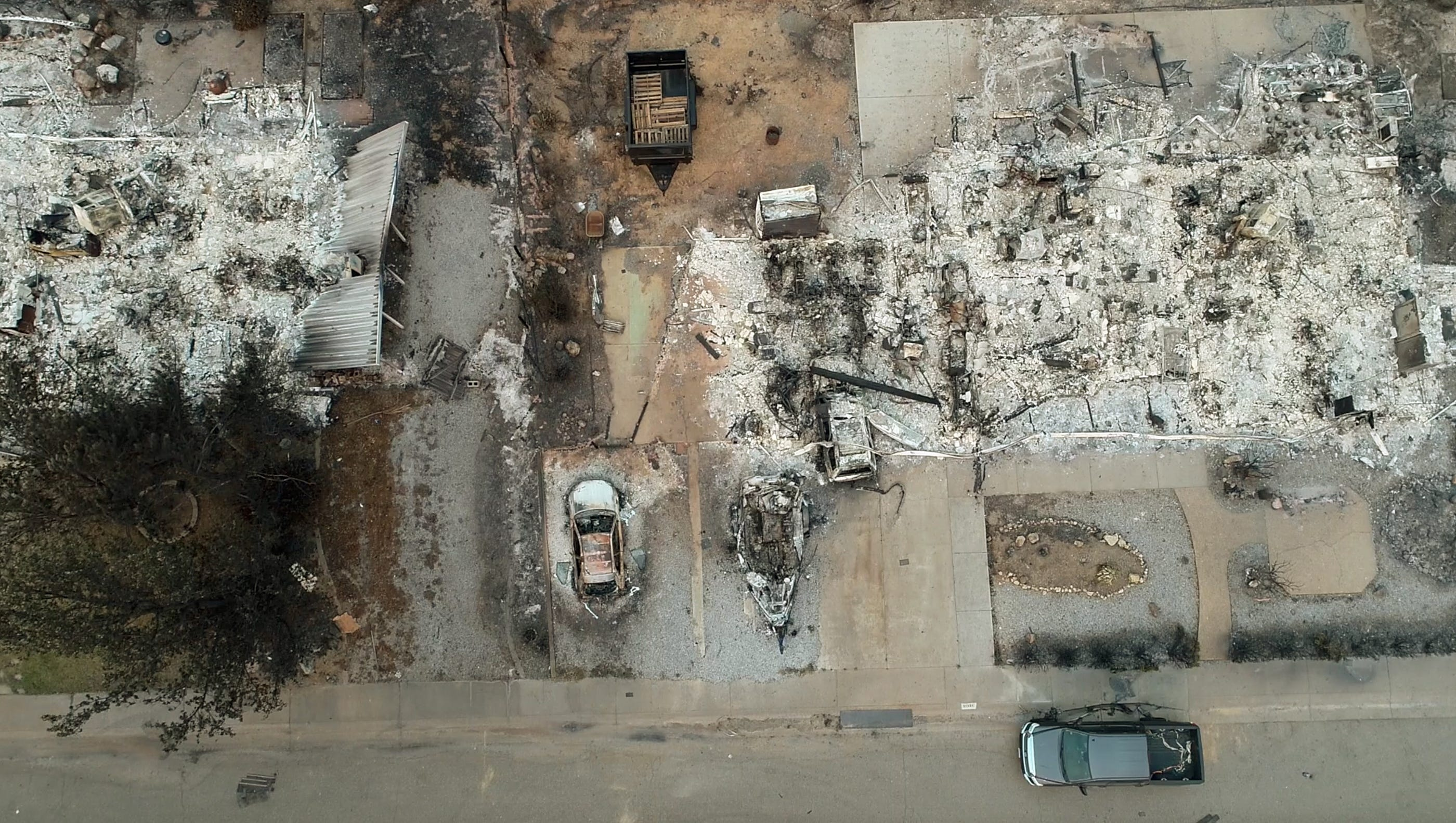 This is a view of destroyed homes in the Lake Keswick Estates neighborhood on the northwest side of Redding, Calif, Aug 2, 2018.
