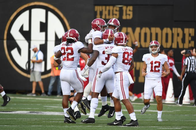 No. 1 Alabama Crimson Tide. (13-1 record in 2017).