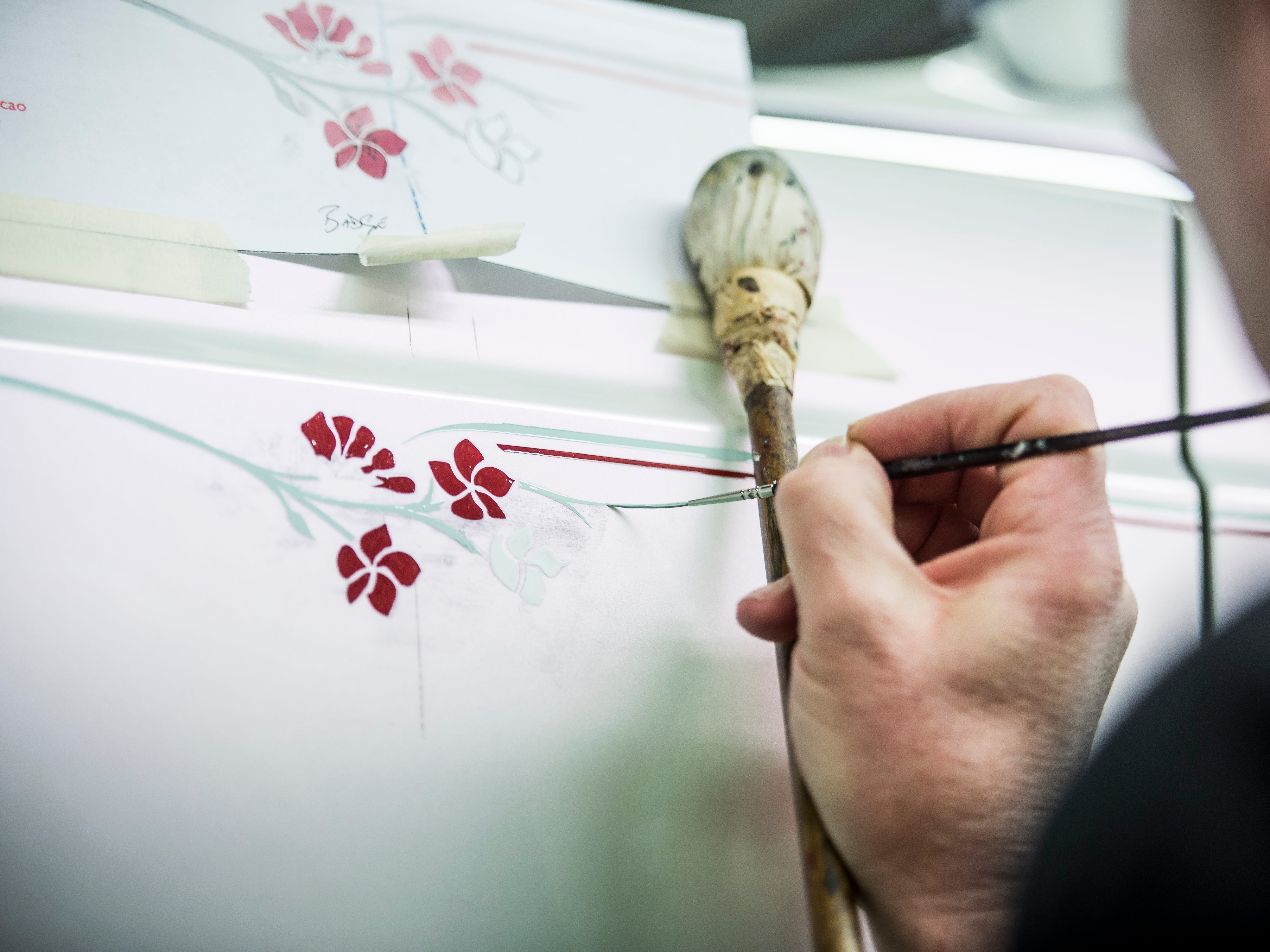 The Rolls-Royce Serenity Phantom has its detail stripping painted by hand.