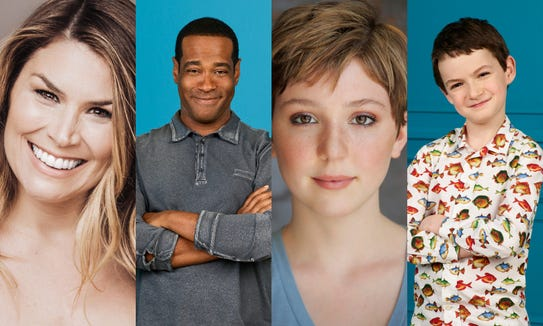 """Freaky Friday"" 2018 stars from left: Heidi Blickenstaff, Alex Désert, Cozi Zuehlsdorff, and Jason Maybaum."