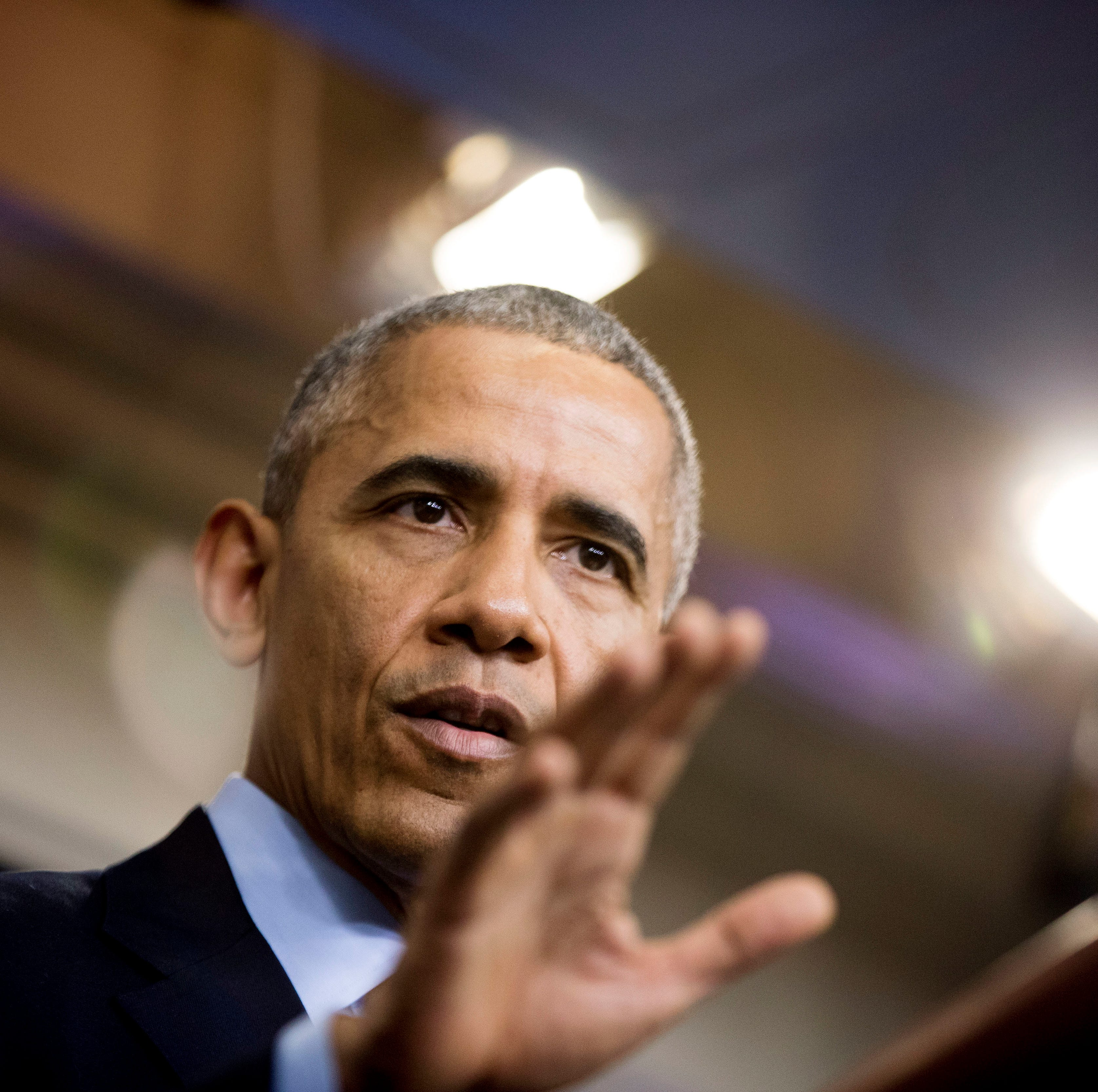 In this Dec. 16, 2016, photo, President Barack Obama speaks to the media during a news conference at the White House in Washington. The Trump administration isn't the first to grapple with the question of how to handle tens of thousands of immigrant families arriving on the U.S.-Mexico border. Four years ago, Obama faced a similar crisis when record numbers of Central American immigrants fleeing violence began showing up at the border. Officials had to deal with the same court case the current administration began fighting Thursday, June 21, 2018, a day after President Donald Trump issued a new executive order on the treatment of migrants. (AP Photo/Andrew Harnik) ORG XMIT: NYHK402