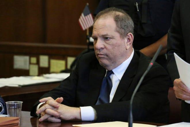 Harvey Weinstein at arraignment in court in New York, July 9, 2018.
