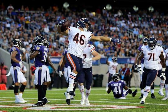 Bears fullback Michael Burton.