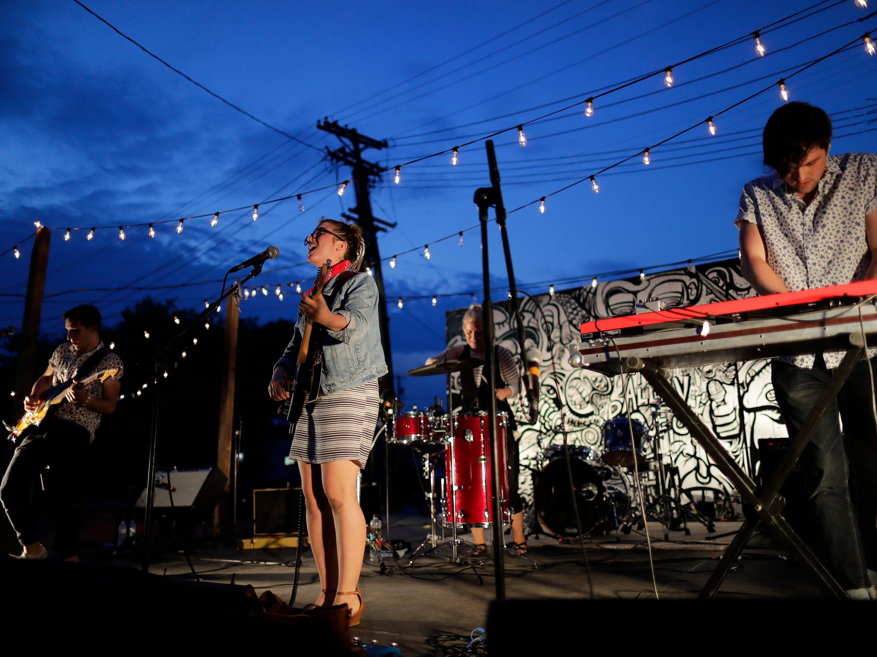 Good Night Gold Dust performs at the Alley Project during the Mile of Music Friday, August 3, 2018, in Appleton, Wis.  