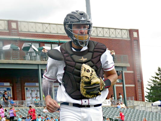 Somerset Patriots Catcher Mike Blanke
