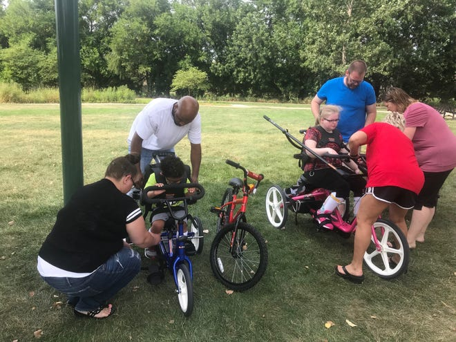 15-year-old Anna Nalevanko and 3-year-old Levi Miller, who are unable to ride traditional bikes safely, were given new adaptive bikes.