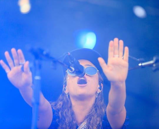 Tash Sultana plays at Hinterland in St. Charles Friday, Aug. 3, 2018.
