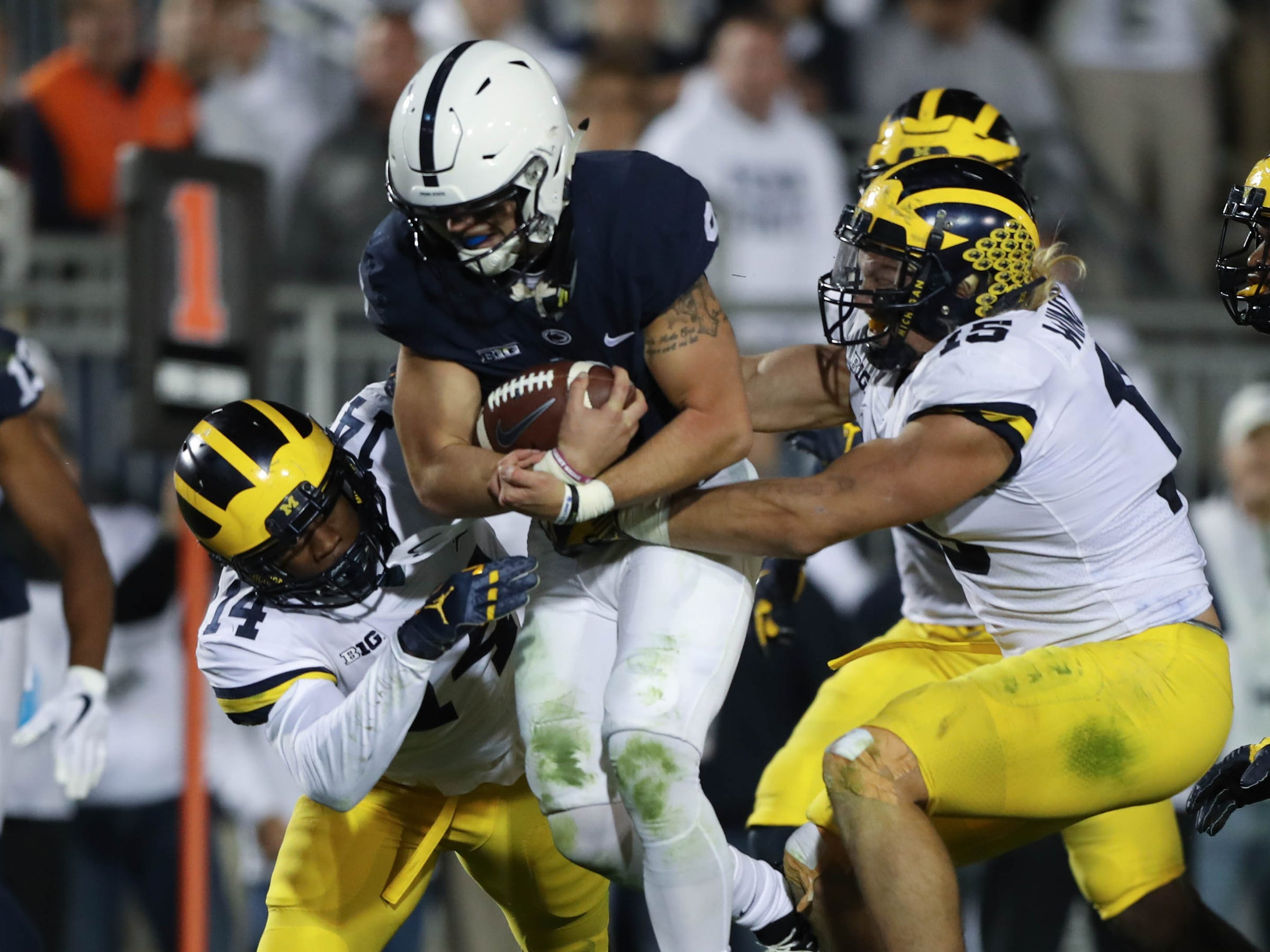 4. Penn State at Michigan. When: Nov. 3. Where: Ann Arbor. The buzz: The Wolverines will be looking for revenge against the Nittany Lions, who stomped them last year, 42-13. Lucky for them Saquan Barkley is now in the NFL.