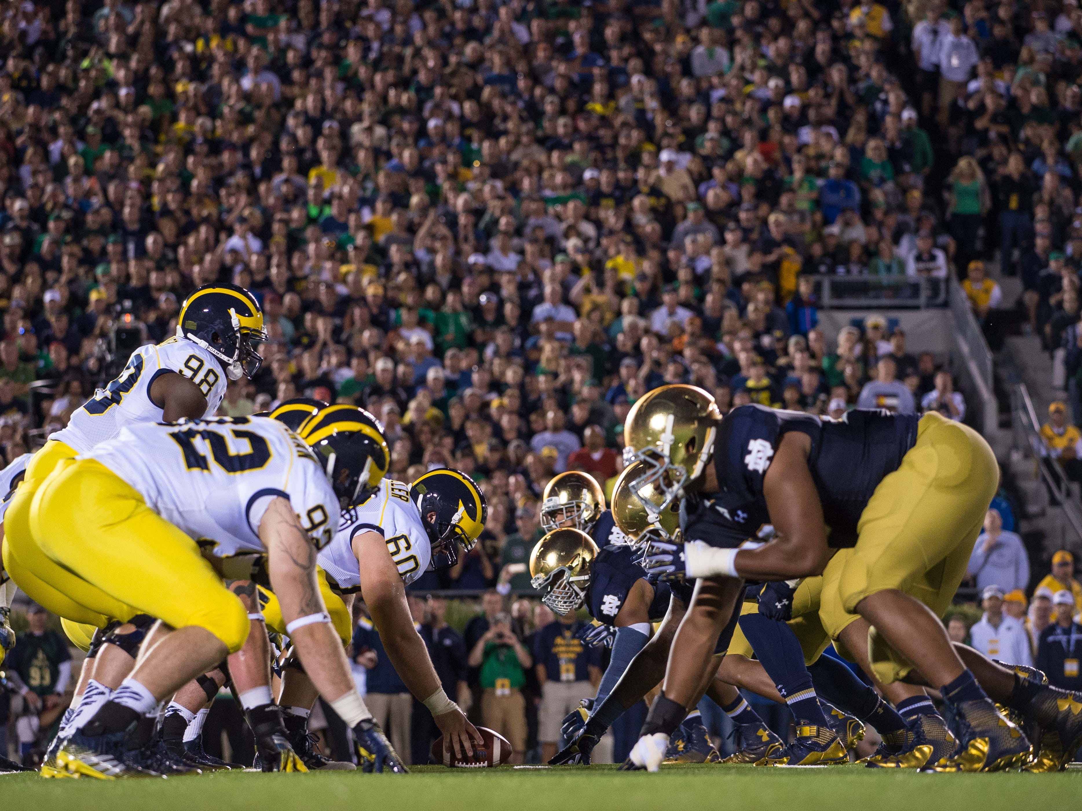 6. Michigan at Notre Dame. When: Sept. 1.  Where: South Bend, Ind.  The buzz: A classic rivalry renewed is one of the most anticipated games of the season and it comes Week 1. The last time the Wolverines faced the Fighting Irish ... it wasn't pretty (31-0 ND in 2014).