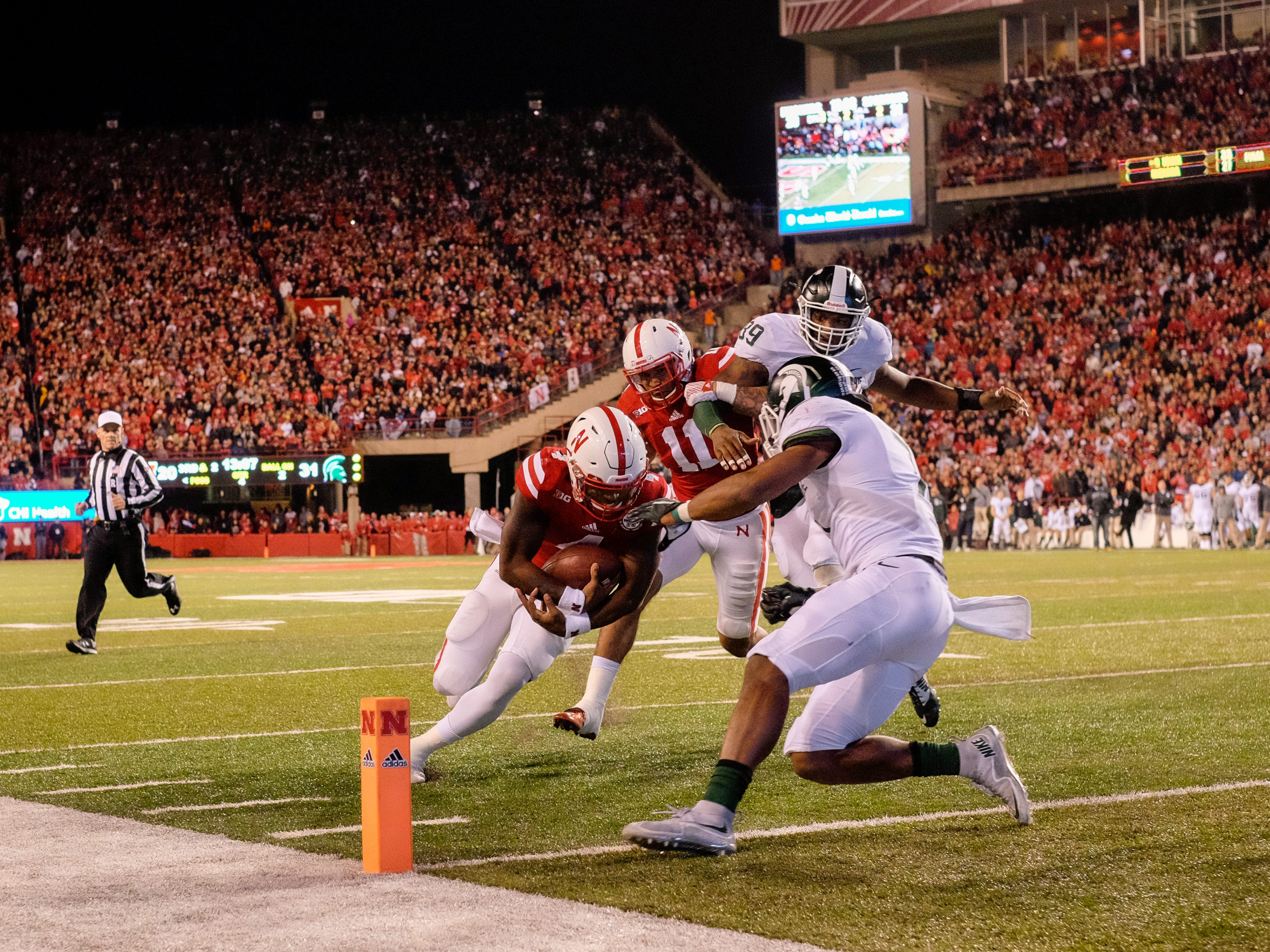 11. Michigan State at Nebraska. When: Nov. 11. Where: Lincoln, Neb.  The buzz: Nebraska is hoping to turn things around this season with new head coach Scott Frost. The last time these two teams met, in 2015, in what was an instant classic with the Cornhuskers coming out on top, 39-38.