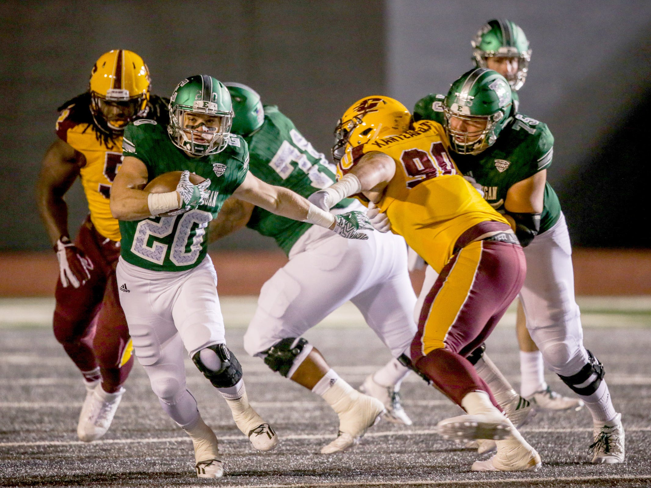 12. Central Michigan at Eastern Michigan. When: Nov. 3. Where: Ypsilanti. The buzz: Last year, the Chippewas took down the Eagles, 42-30 and took home the Michigan MAC trophy.