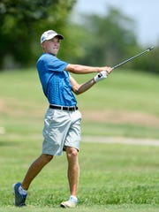 Castle junior Adam Bratton is two shots off the individual lead at the IHSAA golf state championship after a first round 72.