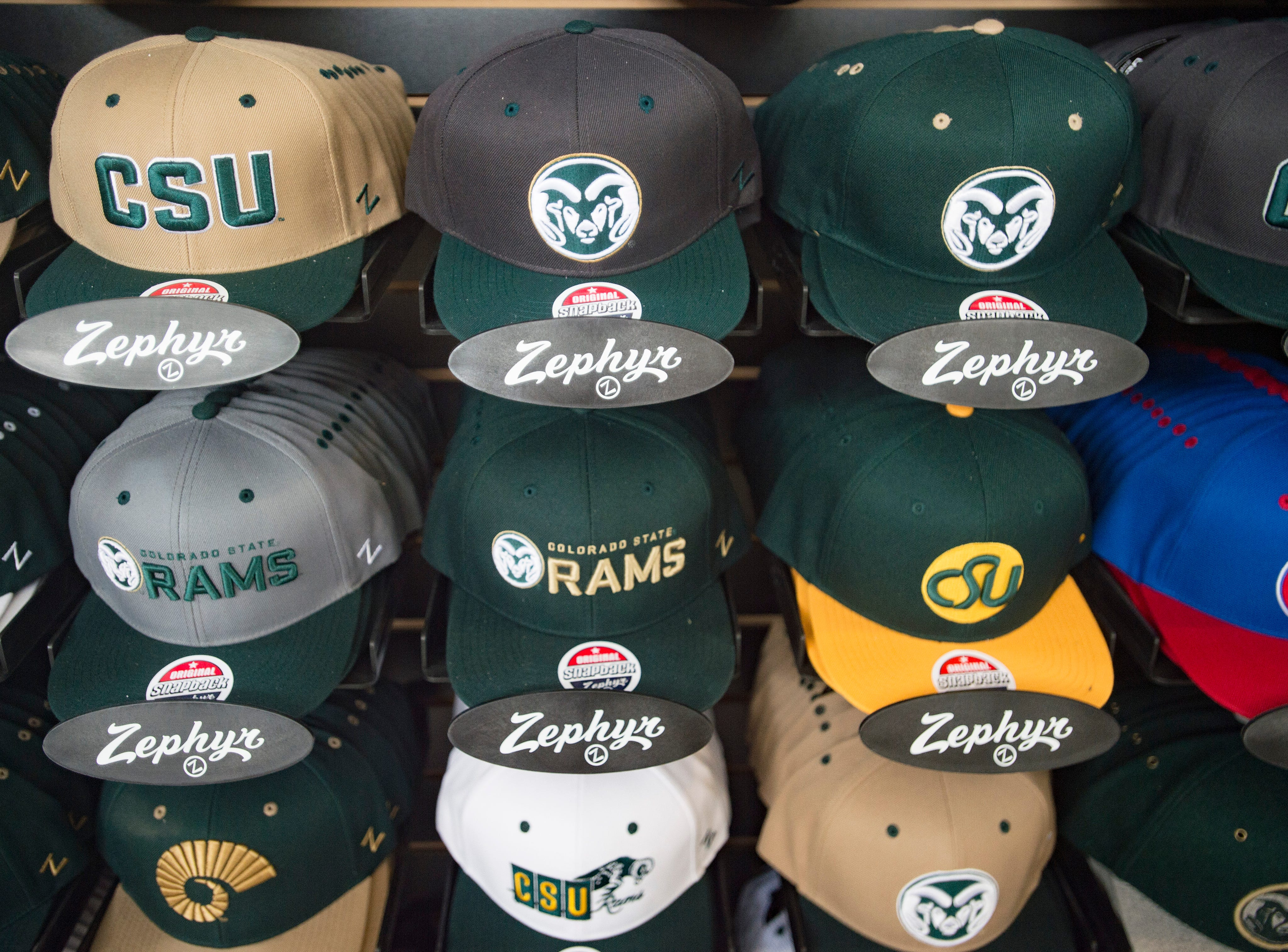 CSU apparel is on sale during an open house hosted by the Rams at Canvas Stadium on Saturday, August 4, 2018.