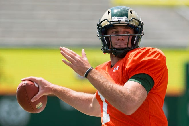 Quarterback K.J. Carta-Samuels, a graduate transfer from Washington, says he's put in the time to learn CSU's offense and is eager to put that knowledge to the test in next Saturday's season opener against Hawaii.