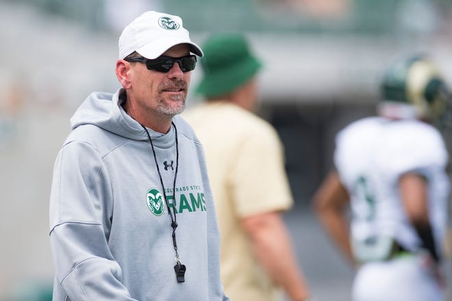 CSU football coach Mike Bobo missed practice Monday as he undergoes medical evaluation for numbness in his foot following offseason knee surgery.