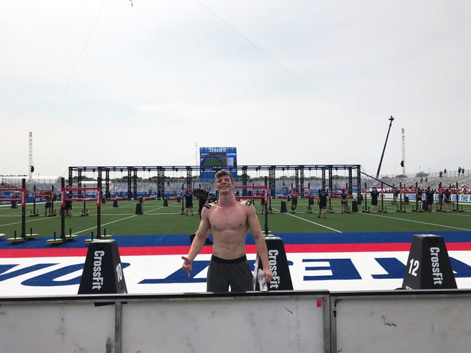 Ethan Elwell sits in third place out of the world's 20-best CrossFit athletes in his age group at the World CrossFit Games.