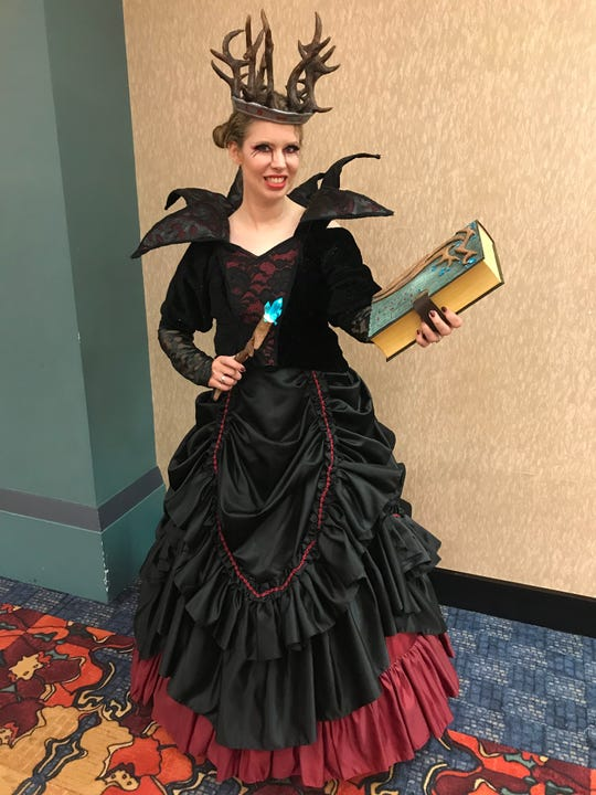 Laura VanArendonk Baugh is Queen Suzie from Dirk Gently's Holistic Detective Agency on BBC America. She, her sister and their friend sourced material for the dress from the same maker the show's costumer used, Baugh said.