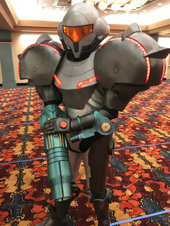 Kegan Crafton, from Frankfort, created Samus Aran, a character from Nintendo's Metroid Prime.