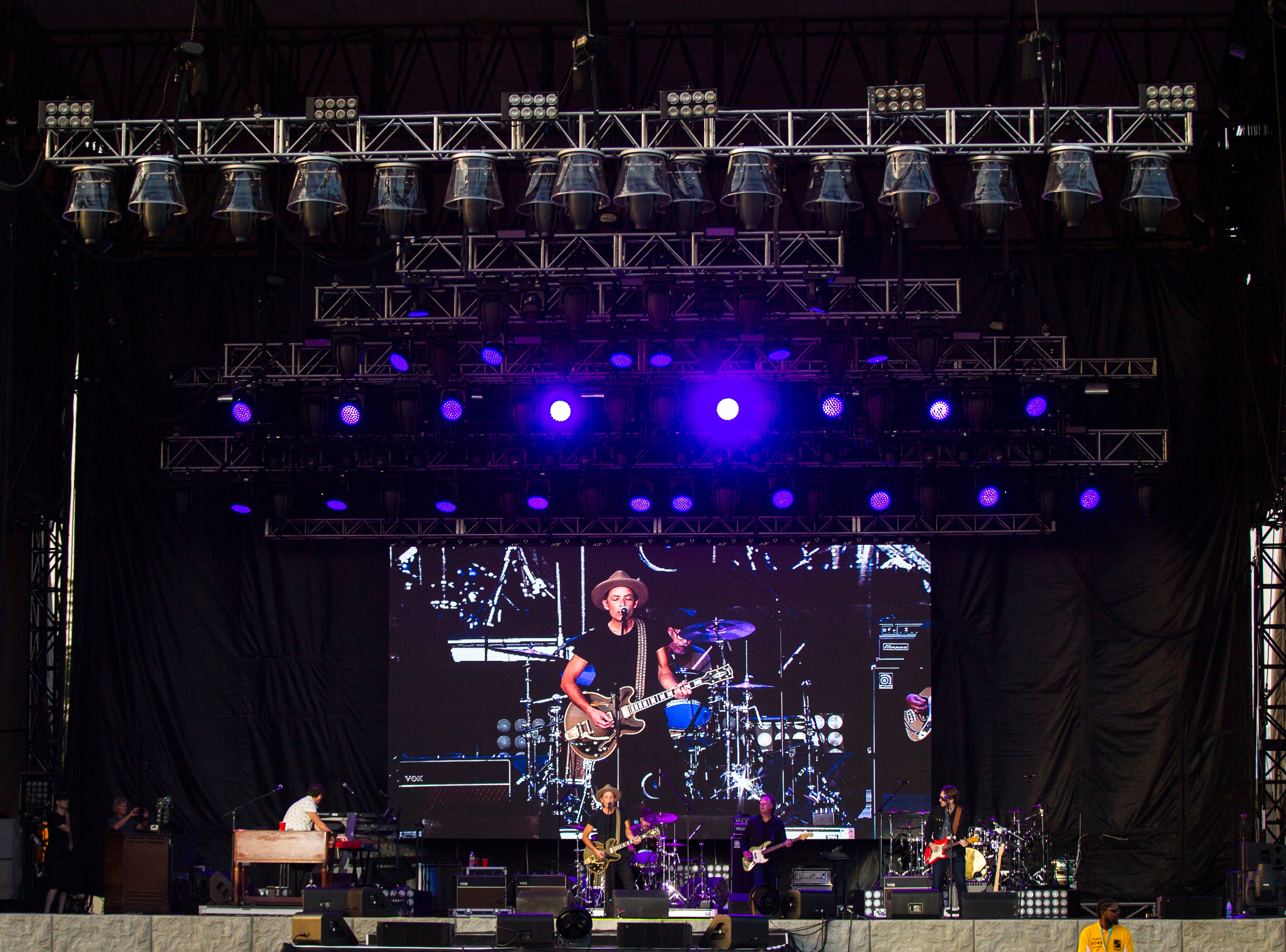 "The Wallflowers perform during ""Newbo Evolve"" on Friday, Aug. 3, 2018, in Cedar Rapids, Iowa."