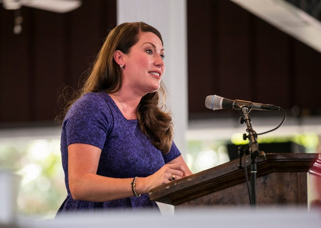 """""""People are sweating here today like Matt Bevin at a KEA meeting,"""" joked Secretary of State Alison Lundergan Grimes Saturday afternoon at the Fancy Farm picnic in Fancy Farm, Ky."""