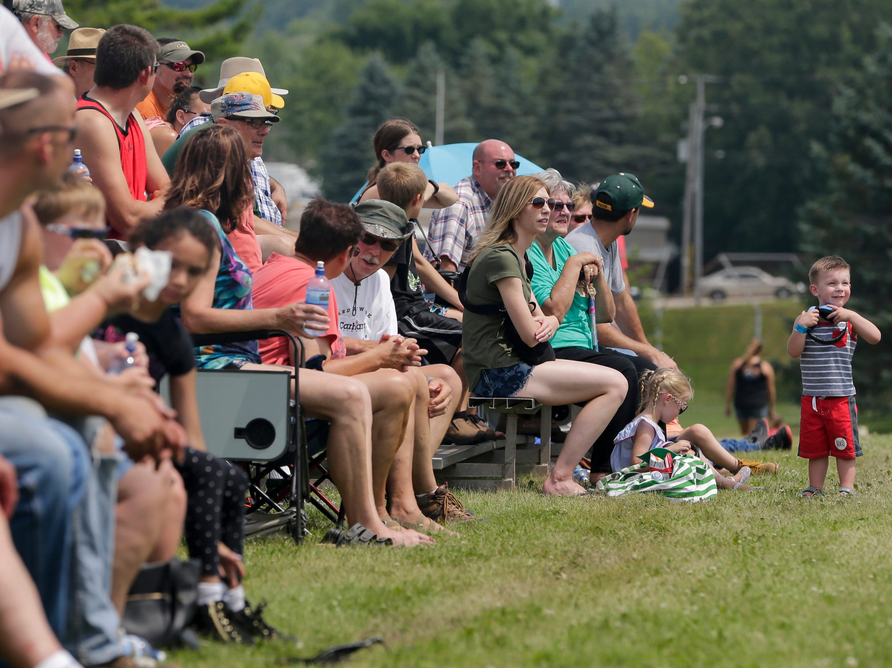The crowd watches the tractor pull during Mishicot Riverfest Saturday, August 4, 2018, in Mishicot, Wis. Josh Clark/USA TODAY NETWORK-Wisconsin