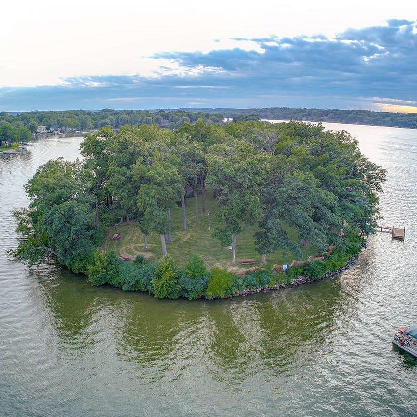 How much does a private island cost? On Pewaukee Lake, one recently sold for $670,000.