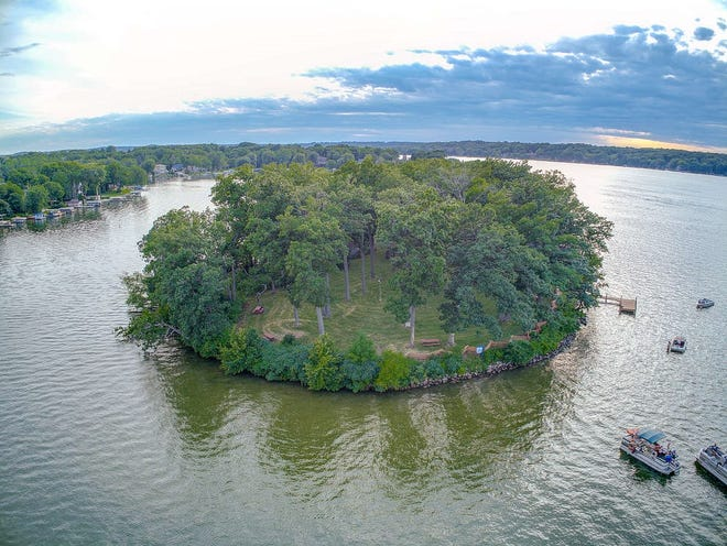 Wilson's Island on Pewaukee Lake was sold for $670,000.