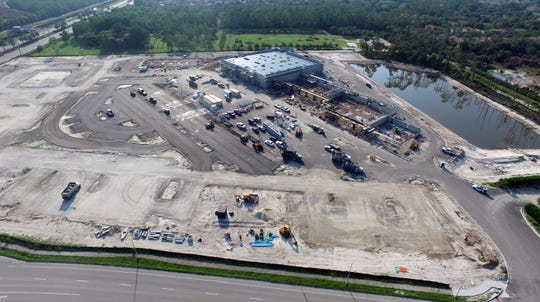 Sprouts Farmers Market will anchor Logan Landings retail center under construction on the corner of Logan Boulevard, bottom, and Immokalee Road, upper left, in North Naples.